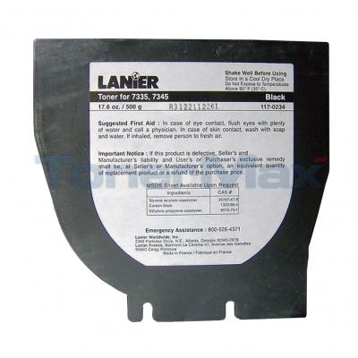 LANIER 7335 7345 TONER BLACK